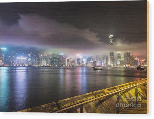 Hong Kong Stunning Skyline Wood Print