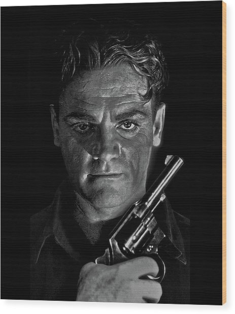 James Cagney - A Study Wood Print