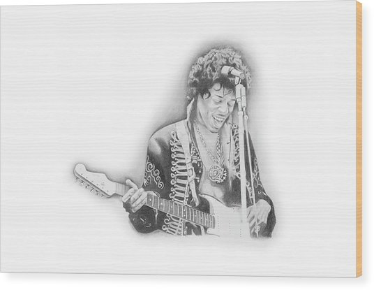 Jimi Hendrix  Wood Print by Don Medina