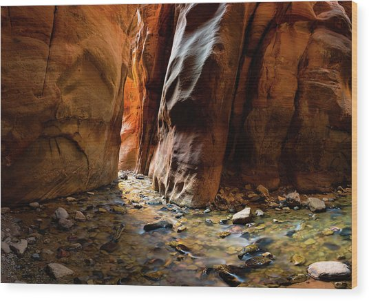 Kanarra Slot Canyon Wood Print