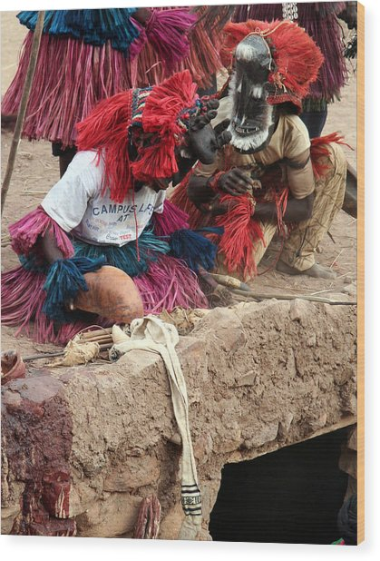 Koundou Dogomo 2007 Wood Print by Huib Blom