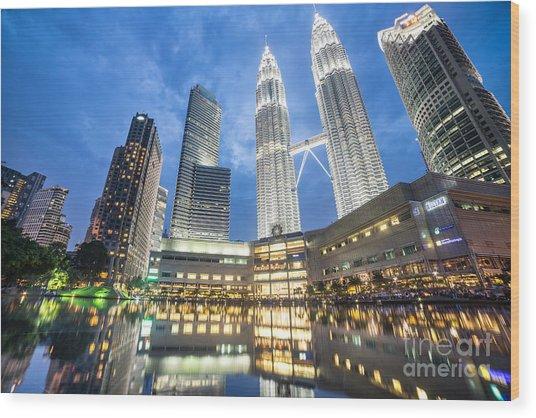 Kuala Lumpur Petronas Towers Wood Print