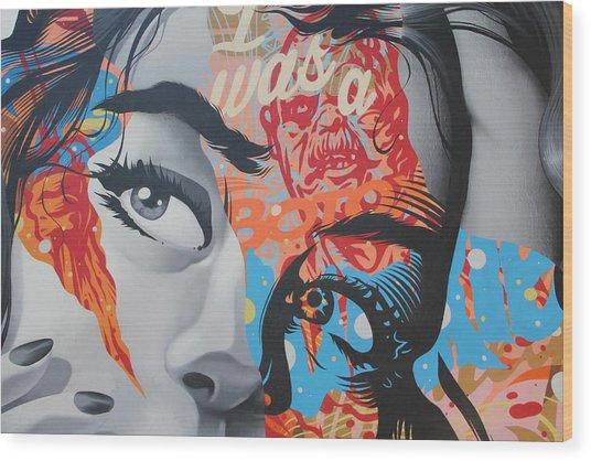 La Street Art Wood Print
