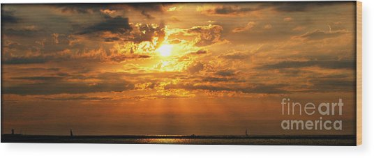 Lake Erie Sunset Wood Print