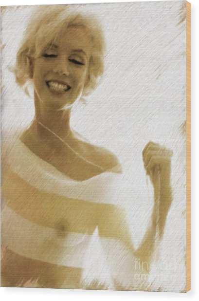 Marilyn Monroe, Actress And Model Wood Print