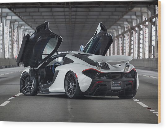 Wood Print featuring the photograph #mclaren #p1 #print by ItzKirb Photography