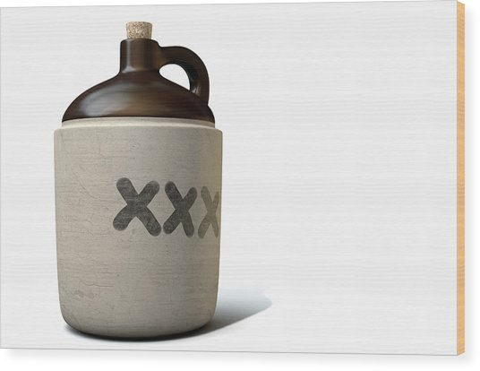 Moonshine Jug Wood Print