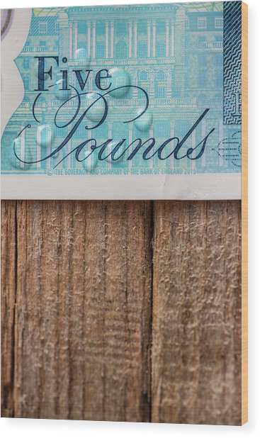 New Uk Five Pound Note Wood Print