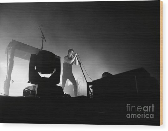 Nine Inch Nails Wood Print