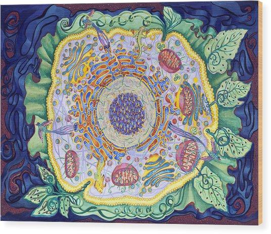 Ode To The Eukaryote Wood Print