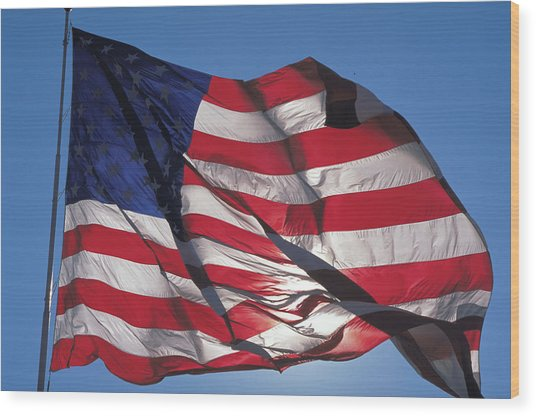 Old Glory Wood Print by Carl Purcell