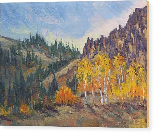 Plein Air Series Wood Print by Len Sodenkamp