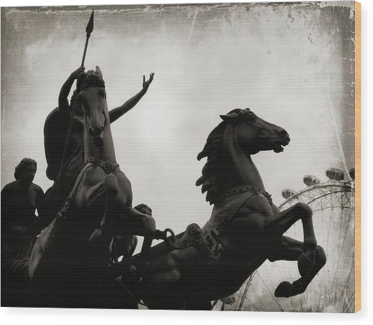 England's Queen Boudica  Wood Print by JAMART Photography