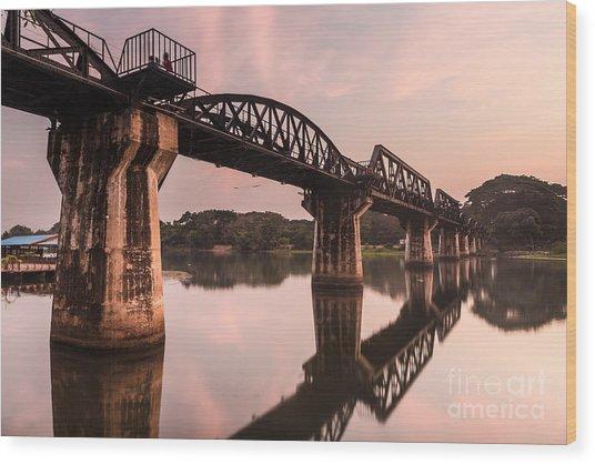 River Kwai Bridge Wood Print