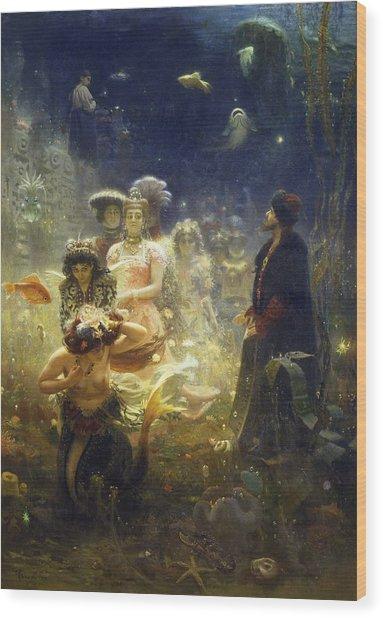 Sadko Wood Print by Ilya Repin