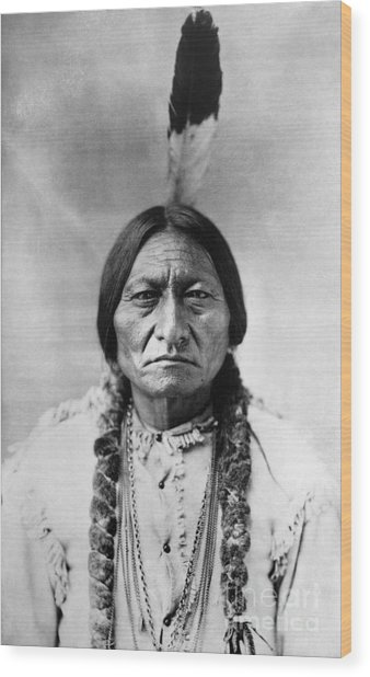 Sitting Bull 1834-1890. To License For Professional Use Visit Granger.com Wood Print
