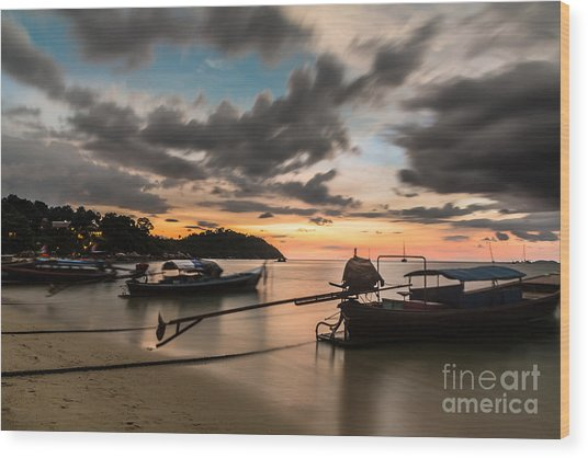 Sunset Over Koh Lipe Wood Print