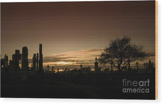 The Graveyard Wood Print by Angel Ciesniarska