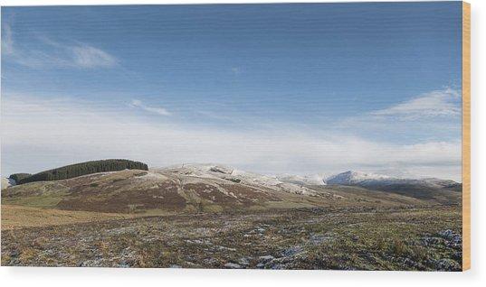 The Ochil Hills Wood Print