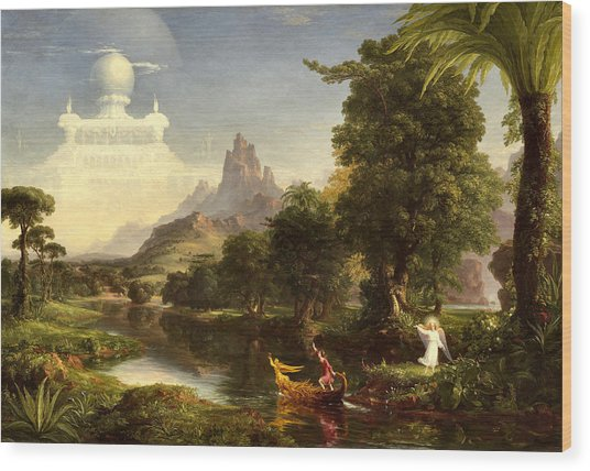 The Voyage Of Life, Youth Wood Print