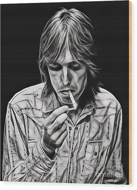 Tom Petty Collection Wood Print