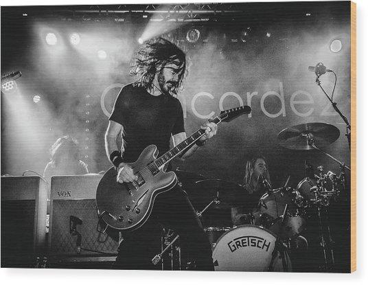 Uk Foo Fighters Live @ Concorde 2 Wood Print