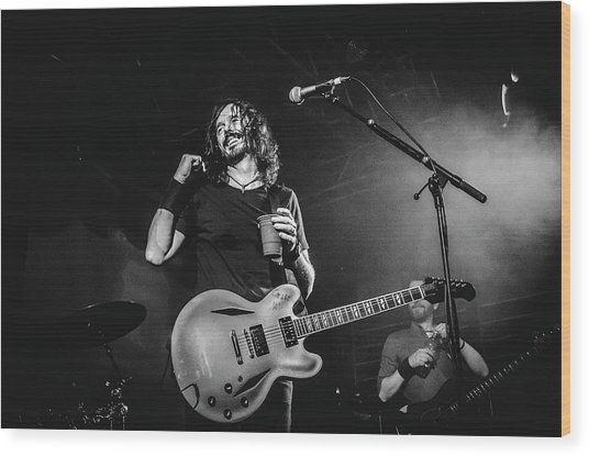 Uk Foo Fighters Live @ Edinburgh Wood Print