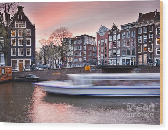 Amsterdam Wood Print by Andre Goncalves