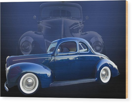 40 Ford Coupe Wood Print