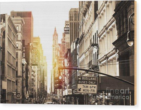 401 Broadway Wood Print