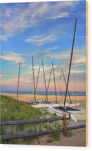 41st Street Beach In Ocean City Nj Wood Print