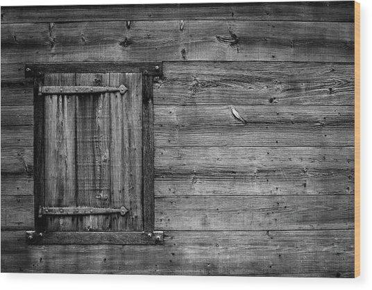 Iron On Old Wood Wood Print