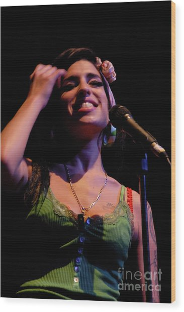 Amy Winehouse  Wood Print