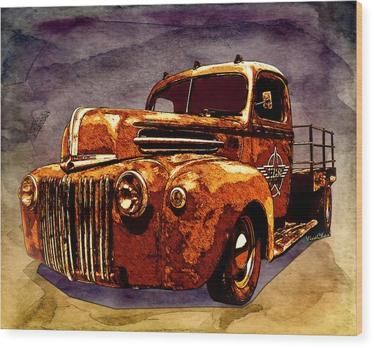 46 Ford Flatbed Redux From The Laboratories At Vivachas Wood Print