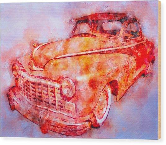 48 Dodge 3 Window Business Coupe Wood Print