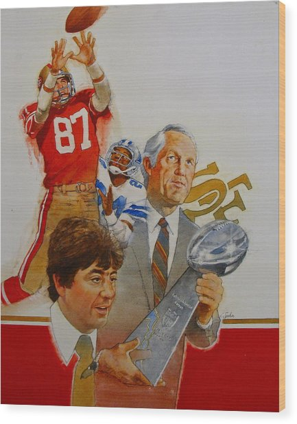 49rs Media Guide Cover 1982 Wood Print