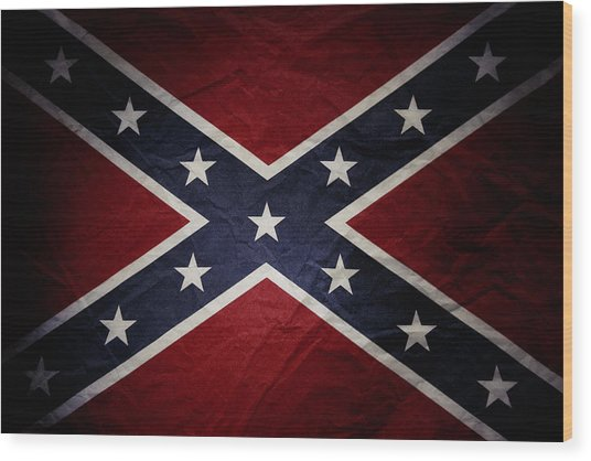 Confederate Flag 8 Wood Print