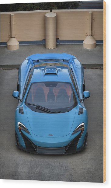 Wood Print featuring the photograph #mclaren #675lt #print by ItzKirb Photography