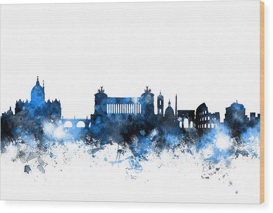 Rome Italy Skyline Wood Print