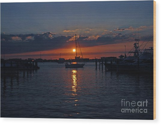 5- Sailfish Marina Sunset In Paradise Wood Print