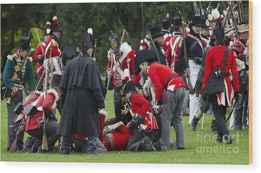 The Battle Of Queentson Heights Wood Print