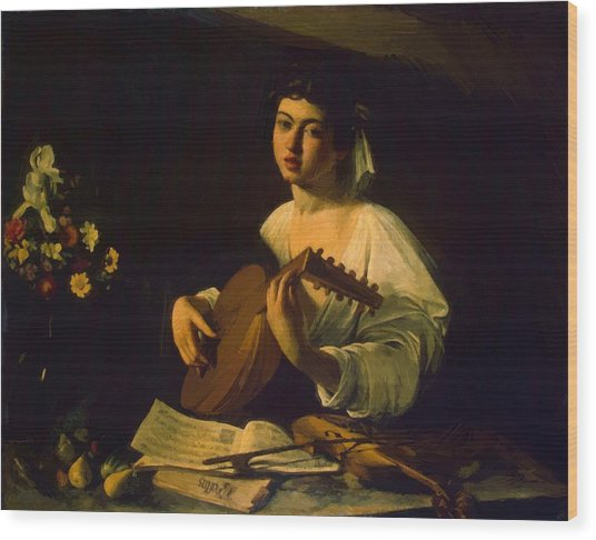The Lute Player Wood Print by Caravaggio