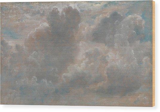 Title Cloud Study Wood Print