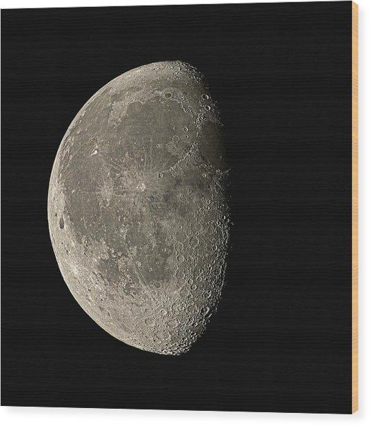 Waning Gibbous Moon Wood Print