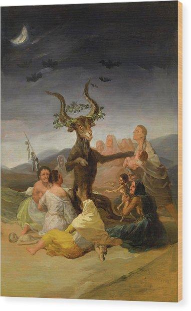 Witches Sabbath Wood Print