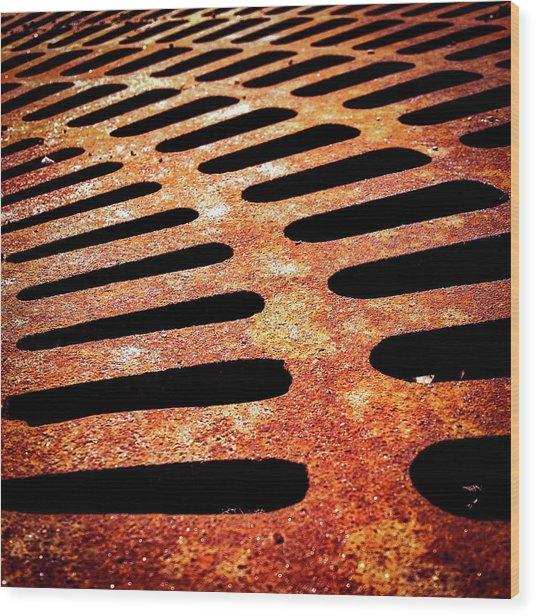 Iron Detail Wood Print