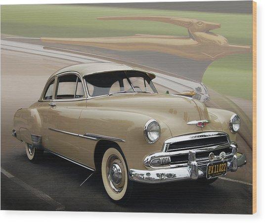 51 Chevrolet Deluxe Wood Print