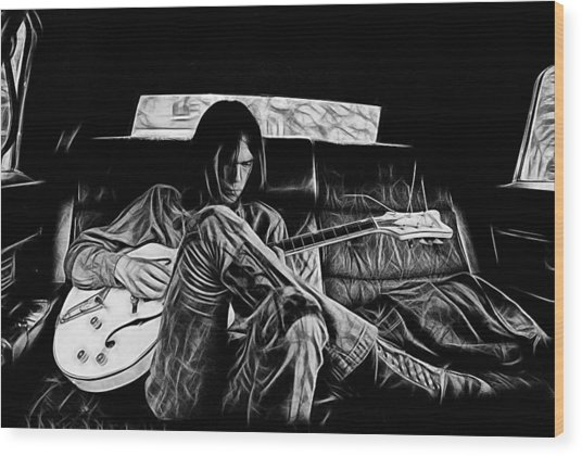 Neil Young Collection Wood Print
