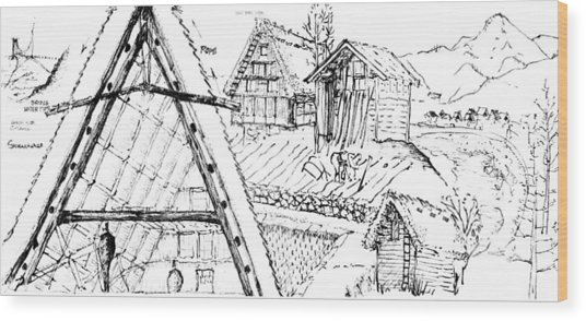5.15.japan-3-detail-b Wood Print