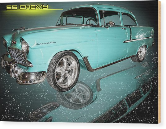 55 Chevy Wood Print